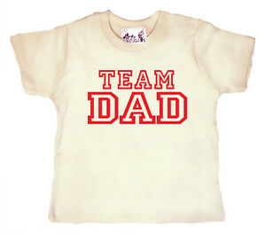 "Funny Baby T-Shirt ""Team Dad"" Daddy Father's Day Birthday Gift Boy Girl Top"