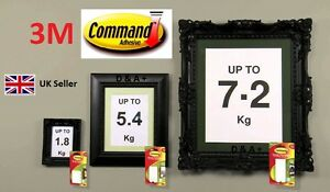 3M Command Large Medium Small Adhesive Strips Damage Free Picture Frame Hanging
