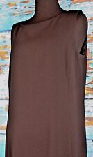Dana Buchman Dress Sleeveless Size 10 Triacitate Blend Black Career Full Length
