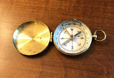 Vintage Brass Case Pocket Compass Made in Germany