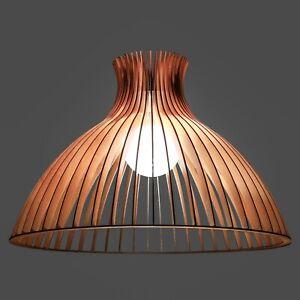 "Wood lamp ""The Umbrella""/ wooden lamp shade / hanging lamp / pendant light"