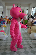Pink Panther Mascot Costume Cartoon Fancy Dress Outfit  Adults Size Halloween A+