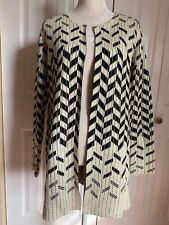NEW OLIVER Woman's Long Sleeve No Closure Long Cardigan Sweater Jacket Top sz M