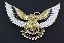 GOLDEN FLYING EAGLE BELT BUCKLE METAL WESTERN COUNTRY AMERICAN