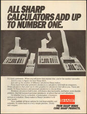 1984-SHARP Calculators/office equipment`4 models photo-Print Ad