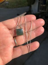 vintage natural green chrysoprase chalcedony pendant necklace