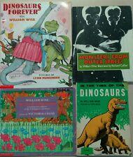 4 William Wise books - Dinosaurs Forever, Ten Sly Piranhas + 2 more