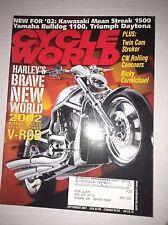 Cycle World Magazine VRod & Twin Cam Stroker September 2001 031317NONRH