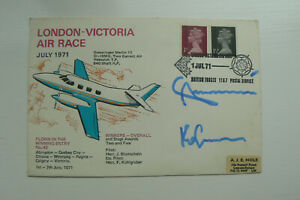 1971 FDC LONDON-VICTORIA AIR RACE SIGNED THE WINNERS,  BLUMSCHEIN & KOHLGRUBER