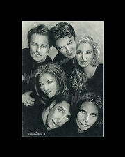 Cast of Friends drawing from artist art image picture poster