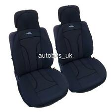 UNIVERSAL PREMIUM BLACK CUSHION PADDED SEAT COVERS CAR VAN BUS TAXI MOTORHOME