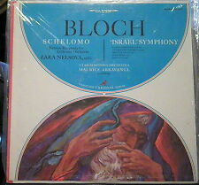"Bloch/Nelsova/Abravanel   Schelomo; ""Israel"" Symphony   Vanguard Cardinal"