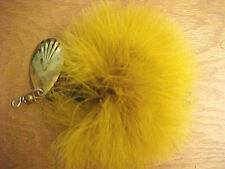 "F7 Musky spinnerbait fishing lure 6"" L  Orange feathers"