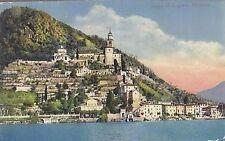 CARTOLINA - LAGO DI LUGANO MORCOLE - viaggiata 1913 a colori