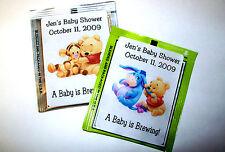30 BABY POOH BABY SHOWER FAVORS TEA BAG LABELS