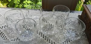 Set of Six  lovely Victorian cut glass Rinsers / bowls crystal.