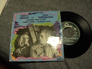 "Serge GAINSBOURG et Brigitte BARDOT / Bonnie and clyde-Comic strip +1(1968) 7""EP"