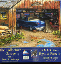 Sunsout 1000 Pc Jigsaw The Collectors Garage Art By Janet Kruskamp~complete