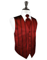3XL New Mens Bright Christmas Red Satin Fullback Tuxedo Vest Formal Holiday