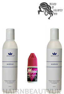 Eternal Beauty 100% Pure Acetone 250ml - Nail Polish Remover, Nail Glue