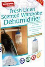 FRESH LINEN SCENTED HANG WARDROBE DEHUMIDIFIER DAMP MOULD CARAVAN BOAT SWARDUMFL