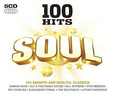 100 Hits-Soul 5 CD NUOVO Ray Charles/Billy Ocean/Wilson Lacanistram/Rufus Thomas BOX