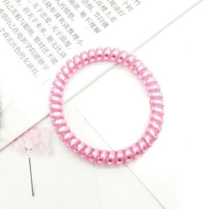 Rose New Telephone Cord Hair Ring Traceless Elastic Rubber Bands Hair Tie 5CM