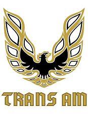 Pontiac Firebird Trans Am Gold Bird LOGO (White Back) POSTER 24 X 36 INCH