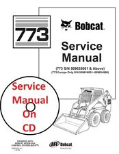 Bobcat 773 Skid Steer Loader Service Manual Part # 6900092 on CD