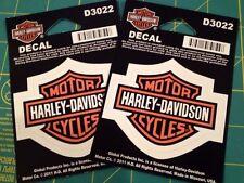 (2) HARLEY DAVIDSON BAR U0026 SHIELD DECAL STICKER WINDOW SMALL Part 49