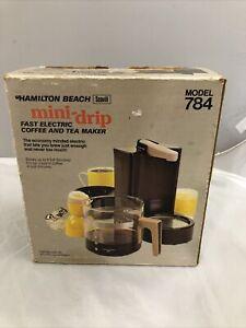 Vintage Hamilton Beach Mini-Drip Vintage Coffee Maker 4 Cup Model 784 Brown