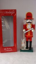 """Home Accents Holiday Christmas 13"""" Nutcracker Fireman with Hose & Dog"""