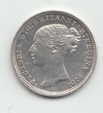 More details for 1869 silver threepence 3d queen victoria great britain.