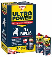 Ultra Power 24 X Professionnel Collant Fly Papier Rouleaux Colle Insecte Piège