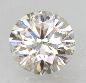 Certified 0.54 Carat G VS1 Round Brilliant Enhanced Natural Loose Diamond 5.27mm