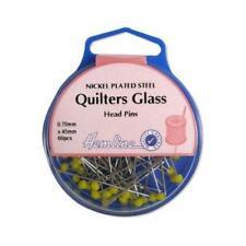 Hemline 45mm Quilters Glass Head Pins - 60pcs H703