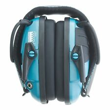 Teal Safety Shooting Ear Muffs 22NRR AUX Jack Electronic Hearing Protection MP3