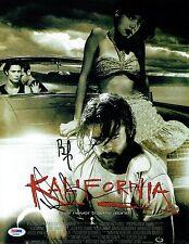 Brad Pitt & Juliette Lewis Signed Kalifornia Auto 11x14 Photo PSA/DNA #AA09509