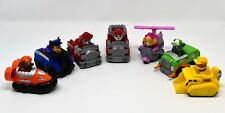 Lot of x7 Spin Master Paw Patrol Vehicles with Built-in Figures