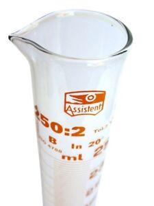 """""""Hecht Assistent"""" Messzylinder 250 ml ❀ Duran Laborglas"""