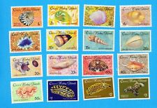 Cocos Islands - Scott & Sg 135-150 - Vfmnh - Seashells - 1985-1986
