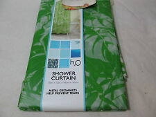 New H2O Trends PEVA Vinyl Shower Curtain JUNGLE BEAT - Metal Grommets - Green