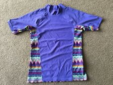 Patagonia Swim Shirt Kid's Childrens Girls XL 14 Purple Multi-color Native Water
