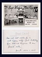 WEST VIRGINIA WHEELING WTRF-TV ROMPER ROOM SCHOOL MISS KAY REAL PHOTO CIRCA 1958