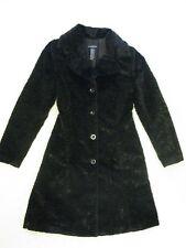 Bebe Faux Persian Lamb Coat Jacket 'Ebony Black' Sz S Beautiful & Rare