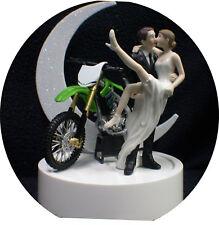 Kawasaki Off Road Dirt Bike Motorcycle wedding Cake topper motorcross Groom top