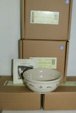 New Longaberger Soup Salad Bowls, Lot Of 4, Boxes, Six Inch, Blue