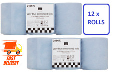 2 x 6 Pack (12 Rolls) Blue Centre Feed Roll Paper Wipe Towel 2Ply Cleaning Towel