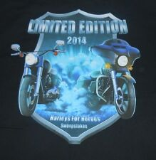 "Gildan ""Harleys For Heroes Sweepstakes"" Limited Edition 2014 - Size XLarge - VG"