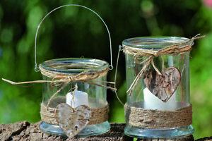Windlicht Kira mit Henkel Teelichthalter Kerzenhalter Deko versch. Größen